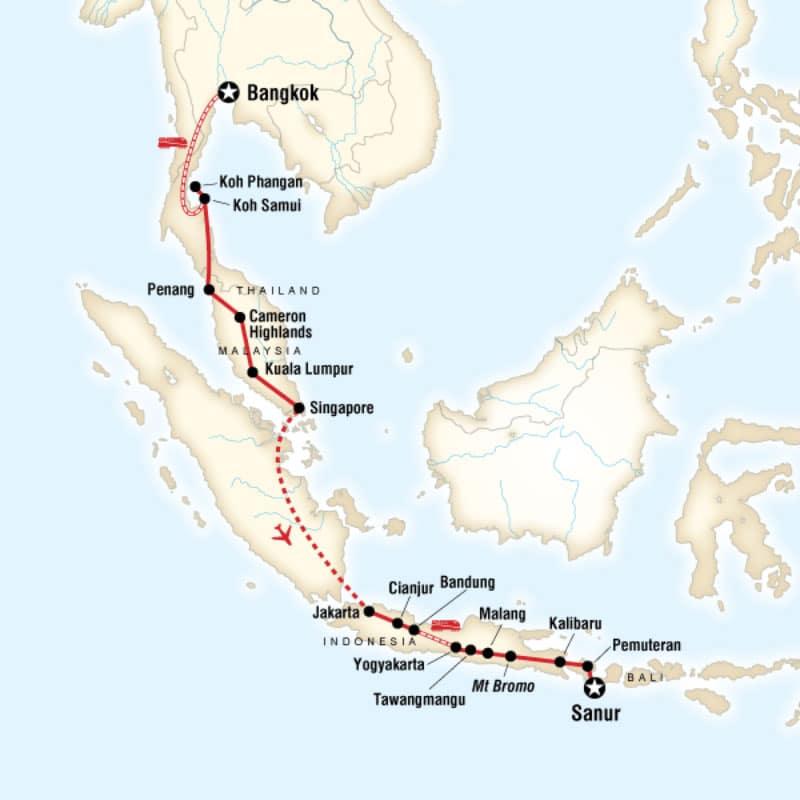 bangkok-to-bali-route