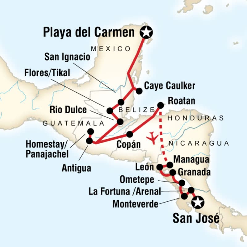 central-american-journey-map