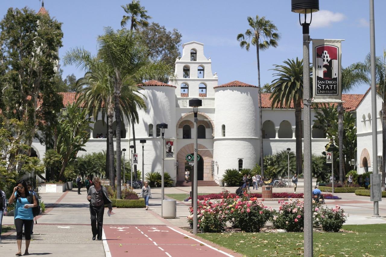 studera i kalifornien - san diego state university campus