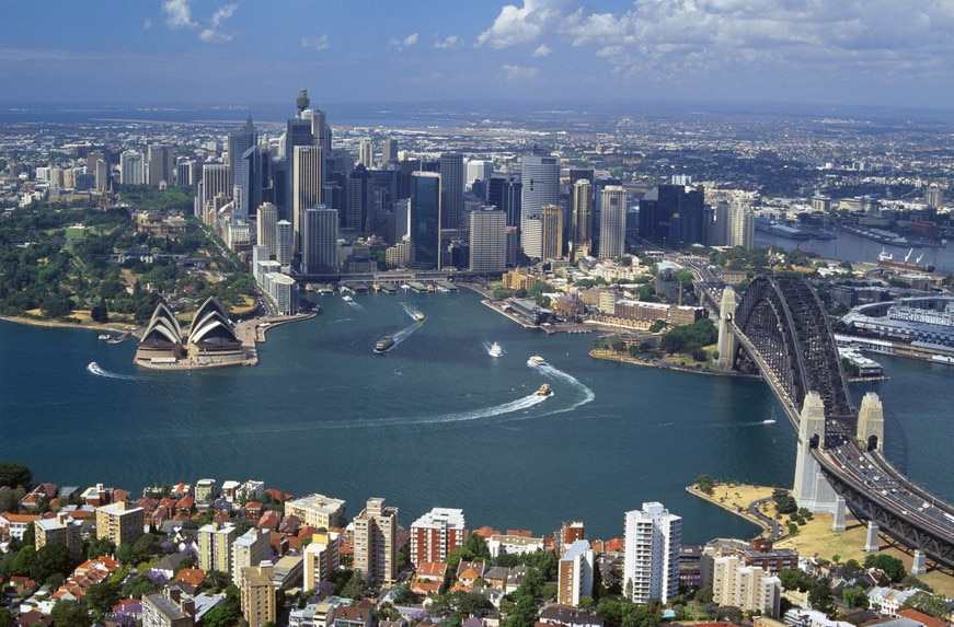 studera i australien sydney skyline