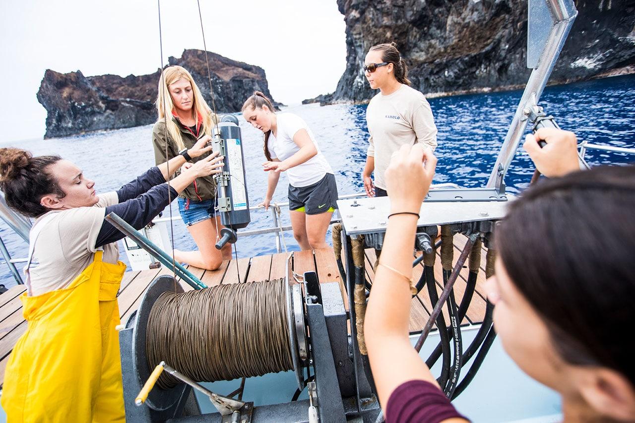 studera marinbiologi hawaii