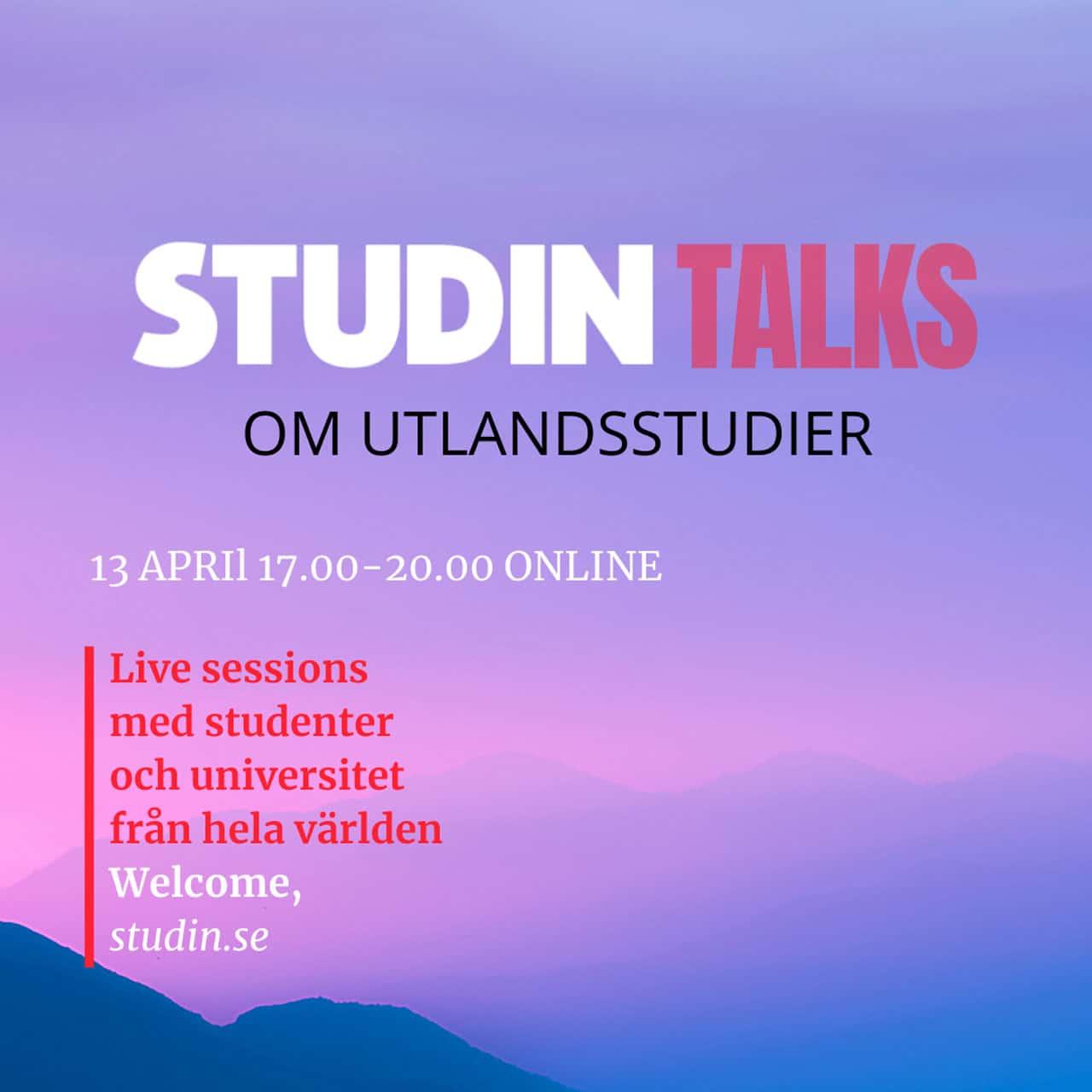 studin talks utlandsstudier